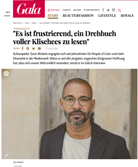 Das Gala Interview mit Tyron Ricketts